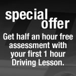 free half an hour assesment with your first 1 hour lesson